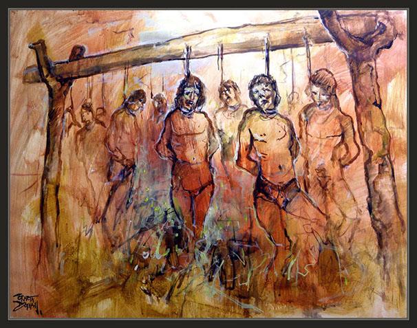 La conquista de México. Pintor Ernest Descals